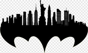 Gotham City Silhouette Nyc Silhouette Skyline Outline Png Download 600x362 7868374 Png Image Pngjoy City Silhouette Gotham City Gotham