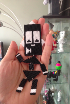 Mio // Community Manager // MAKE Robot made from (hama) beads.