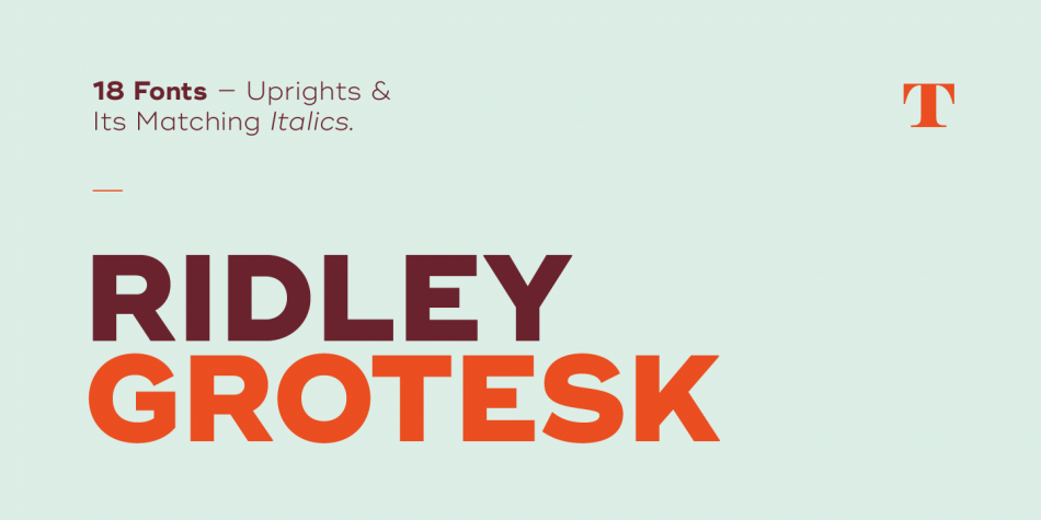 Download Ridley Grotesk Font by Radomir Tinkov , Font Kreativ Popular