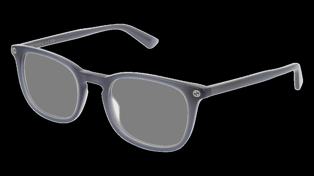 63cb04bfa6 Gucci - GG0122O-005 Grey Eyeglasses   Demo Lenses