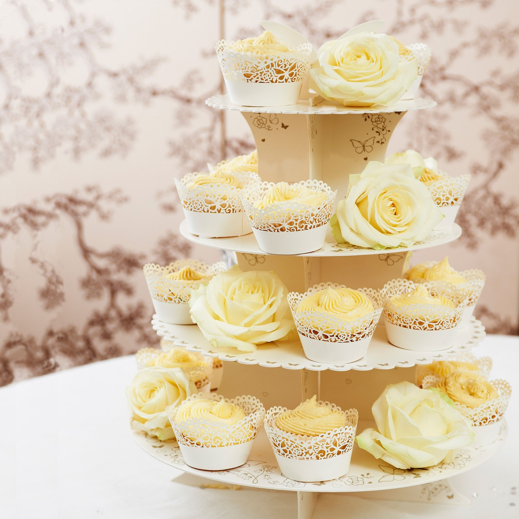 Butterfly Cupcake Stand | #exclusivelyweddings | #DIYwedding | Sweet ...