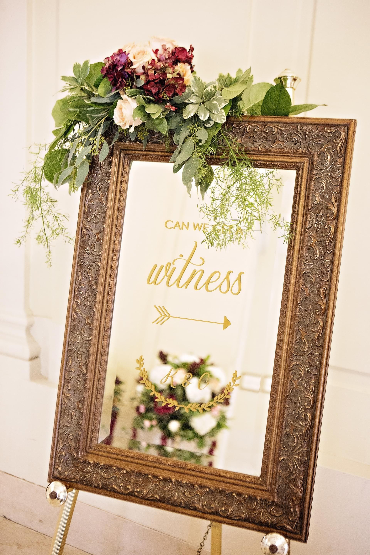 mirror wedding signs diy