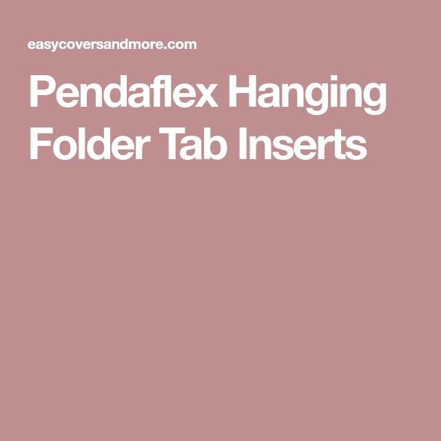 Pendaflex Hanging Folder Tab Inserts Hanging Folders Folder Tabs Folder Templates