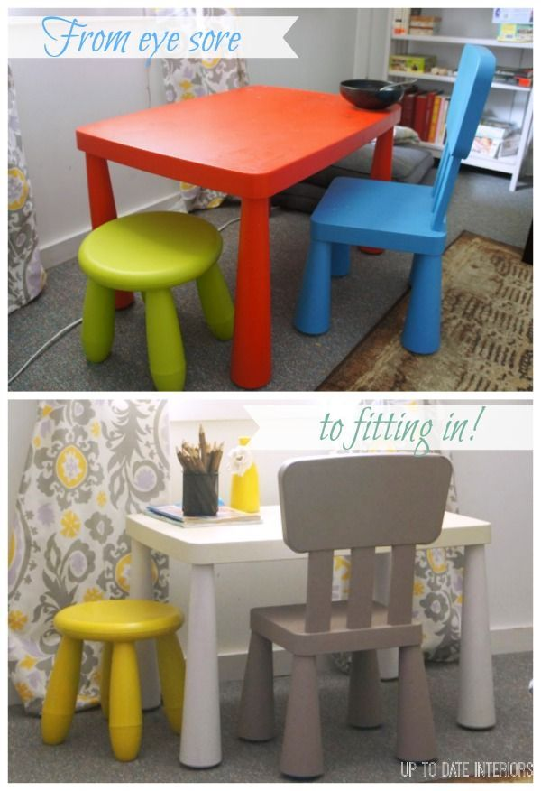 plastic kids table and chairs blue lounge chair set makeover hacks tips tricks shortcuts update an ikea to fit with your decor