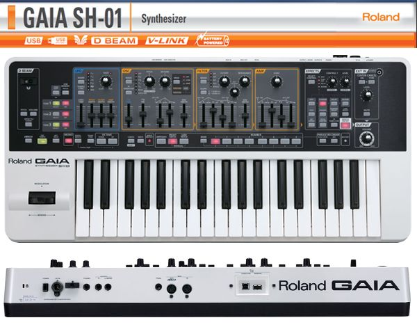 Roland Gaia Sh 01 Synth Synthesizer Roland Synthesizer Gaia