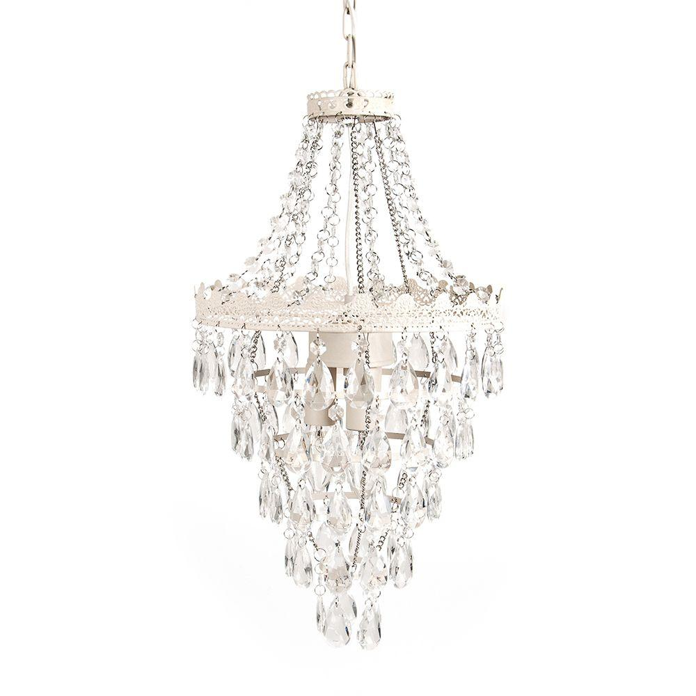 Tadpoles 1-Light Antique White Diamond Pendant Lamp Chandelier ...