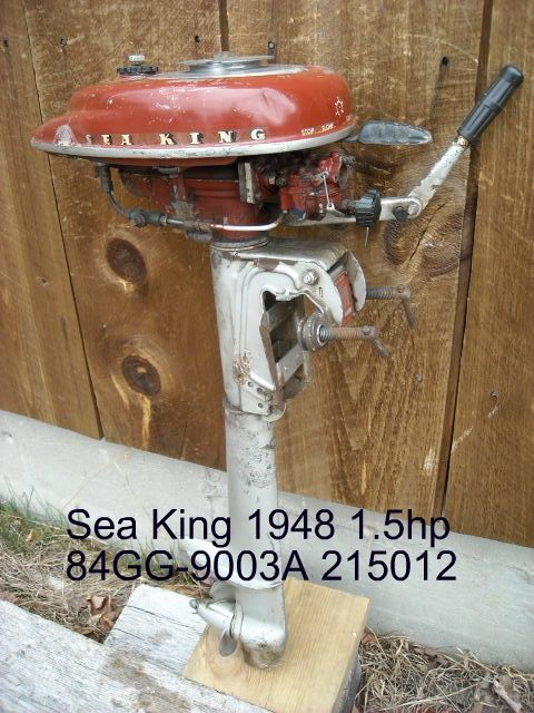 SeaKing-1 5hp-1948 | outboards | Vintage boats, Outboard motors, Old