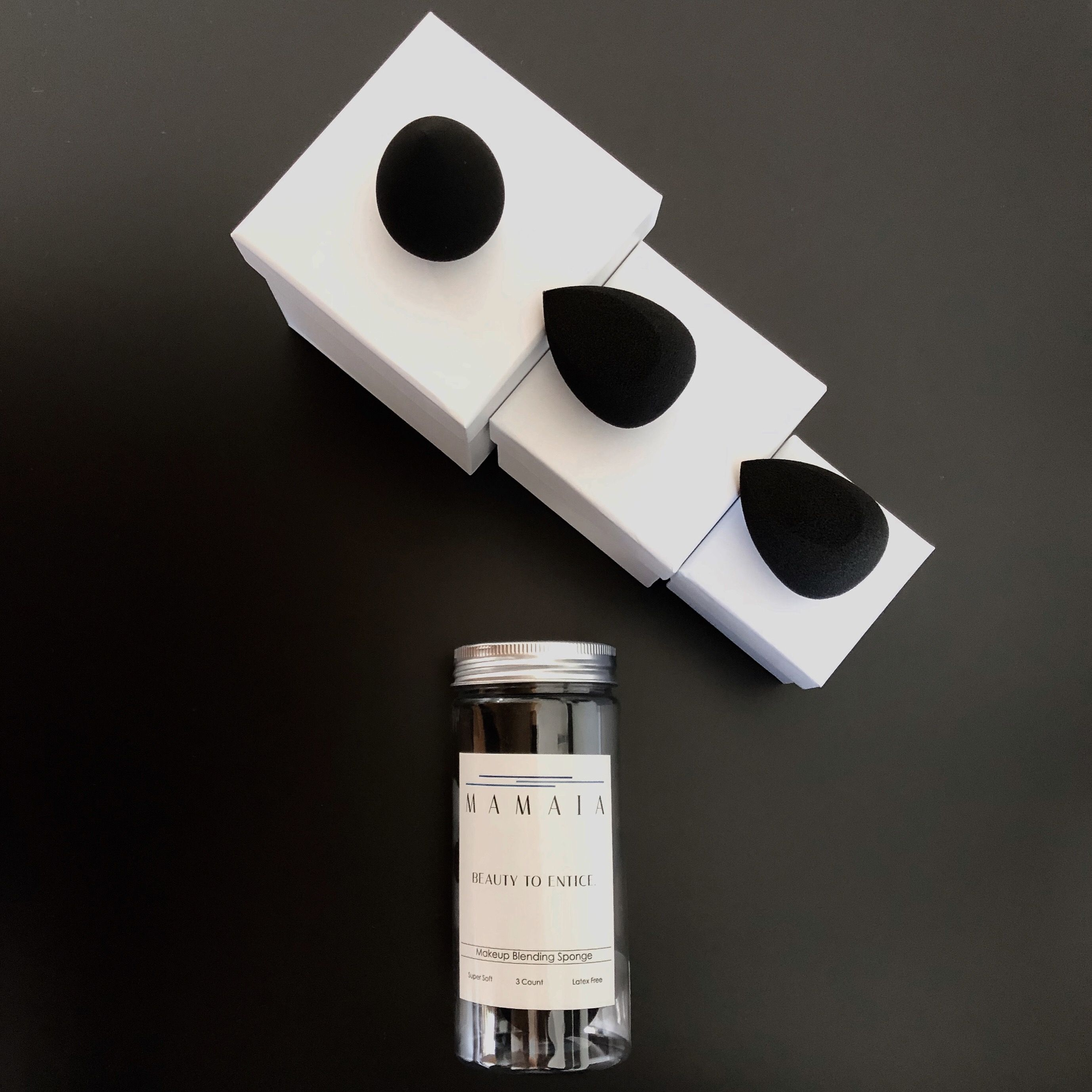 Makeup Blending Sponge Black, 3pc Set Makeup sponge