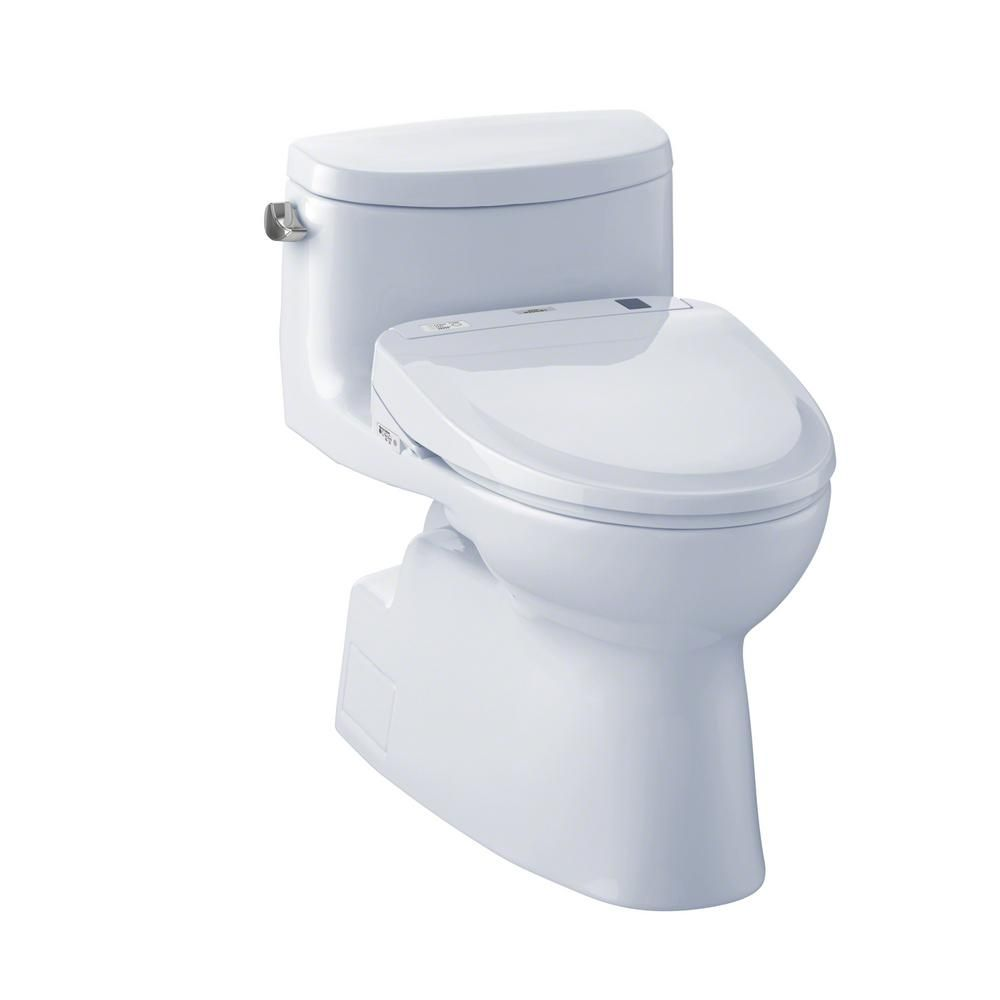 TOTO Carolina II S350E Connect+ 1.28 GPF Elongated Bidet Toilet with ...