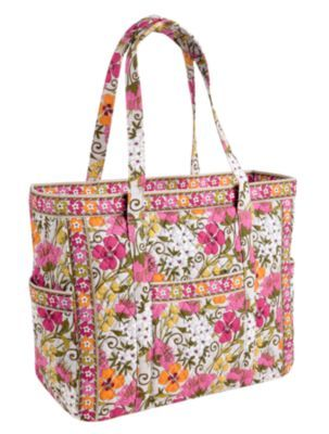 1ab1b6fe570f  92 - Vera Bradley Get Carried Away Tote in Tea Garden ... if only I had a  money tree .