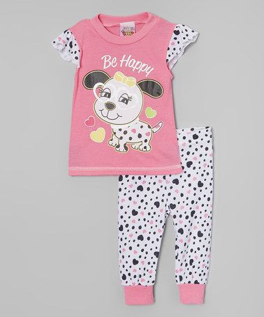 0b49b3c7bfd3b Love this Pink Dalmatian Angel-Sleeve Pajama Set - Infant by 1000% Cute on  #zulily! #zulilyfinds