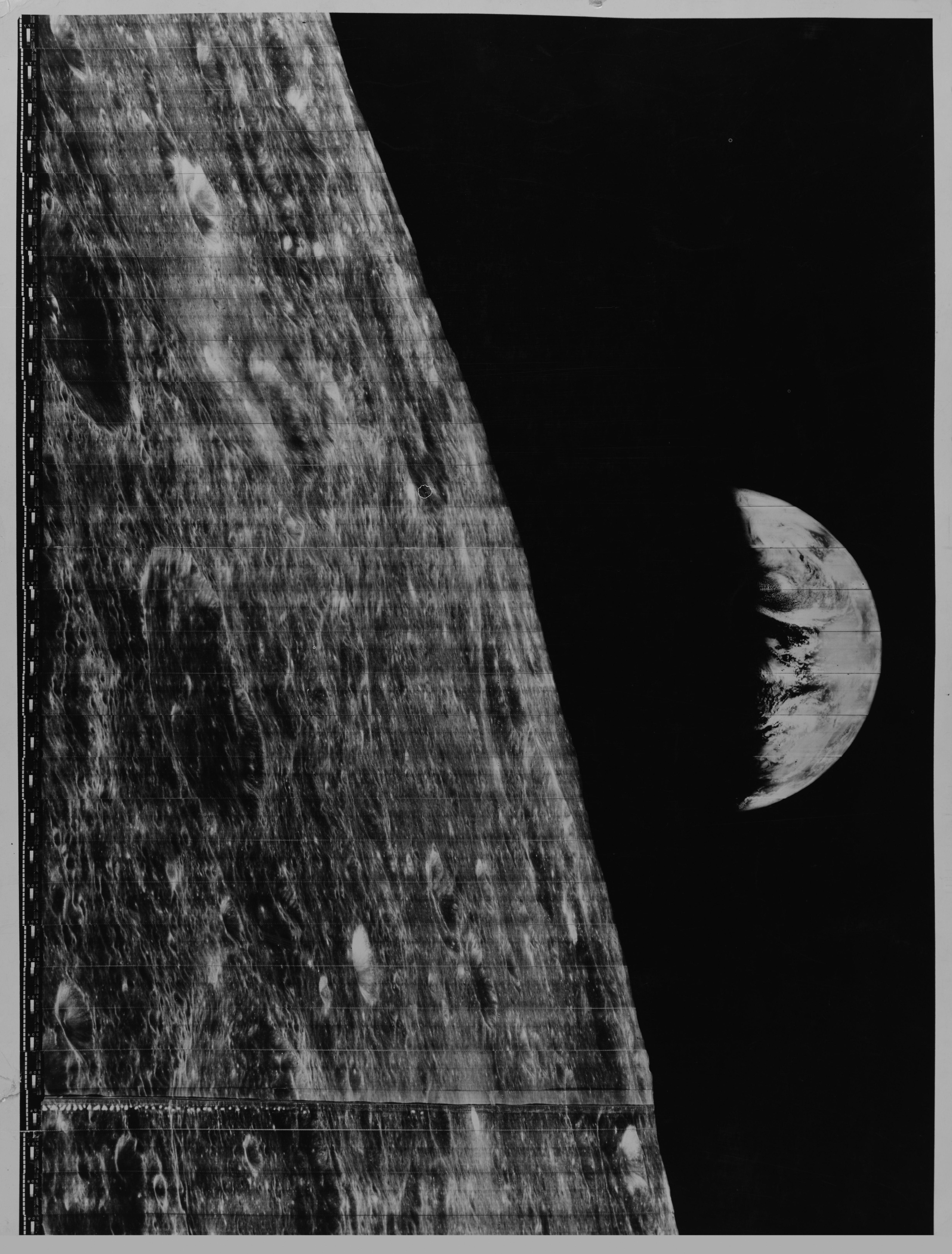 moon & earth - lunar orbiter (1966)