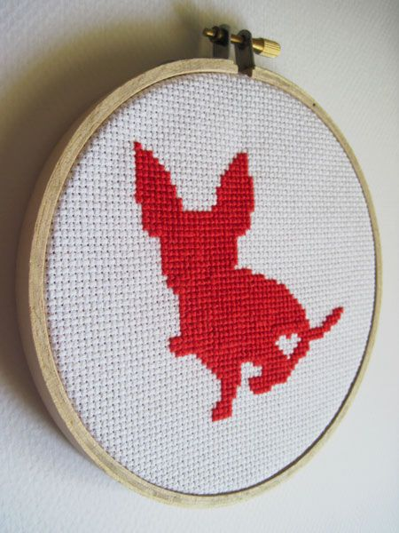 chihuahua cross stitch by kattuna