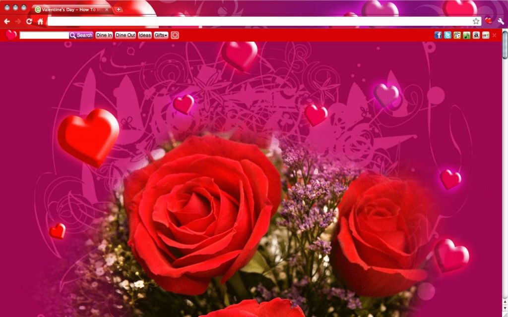 14 Fun & Romantic Google Chrome Heart Themes | Things I love ...
