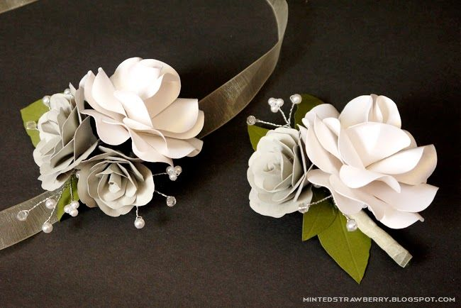 Diy paper flower corsages projects to make pinterest paper diy paper flower corsages mightylinksfo