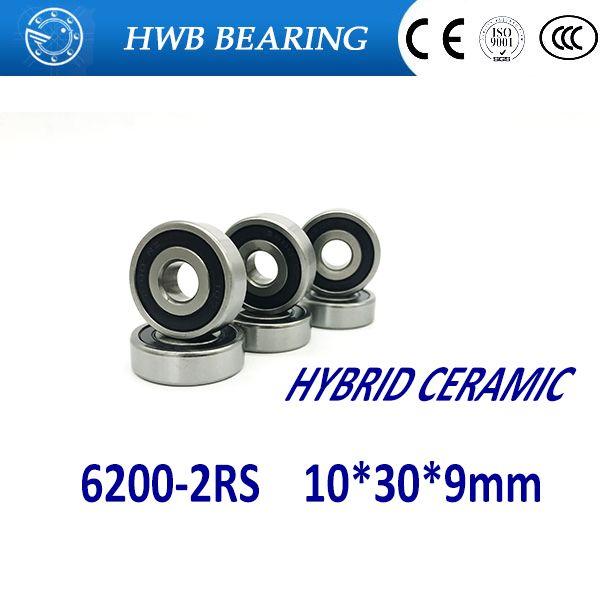 Free Shipping 1pcs 6200 2rs 10x30x9mm Hybrid Ceramic Si3n4 Ball Bearings Bike Bearings 6200 Rs Ceramics Hardware 10 Things