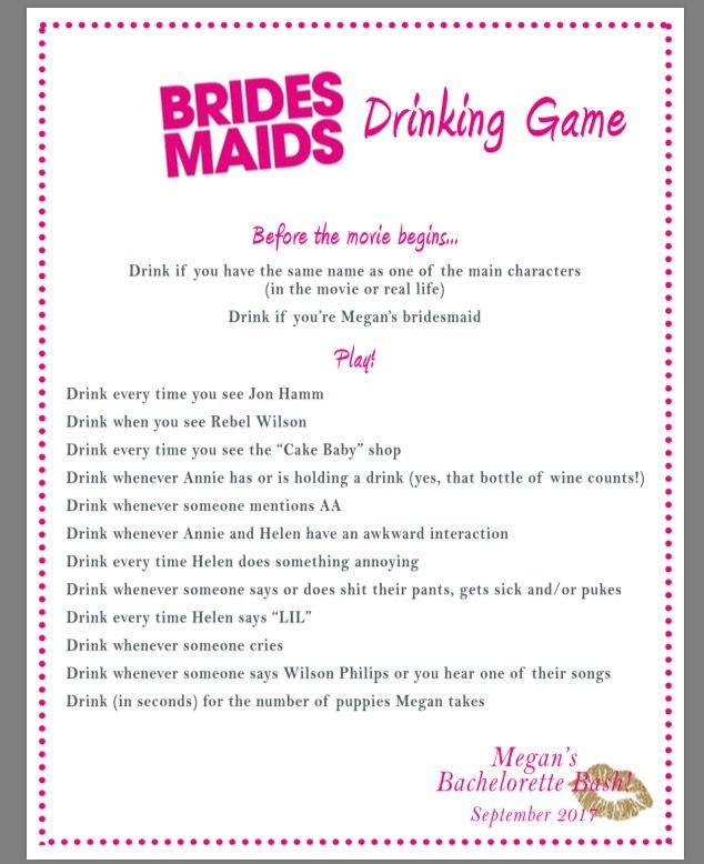 Drinking games movie