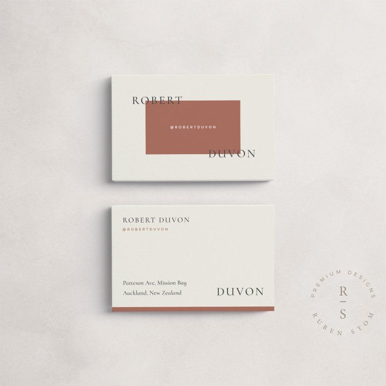 Duvon Business Card Template, Digital Download, Editable