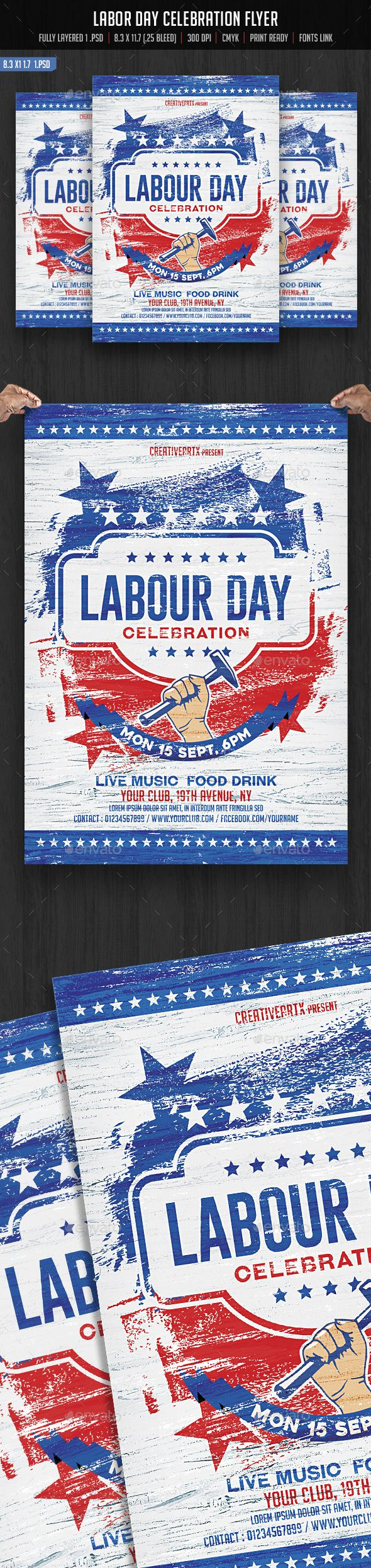 Labor Day Flyer | Pinterest | Labour, Flyer template and Template