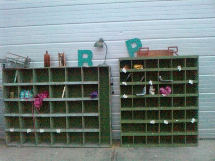 Groen Metalen Vakken Kast Marktplaats Organize Antieke
