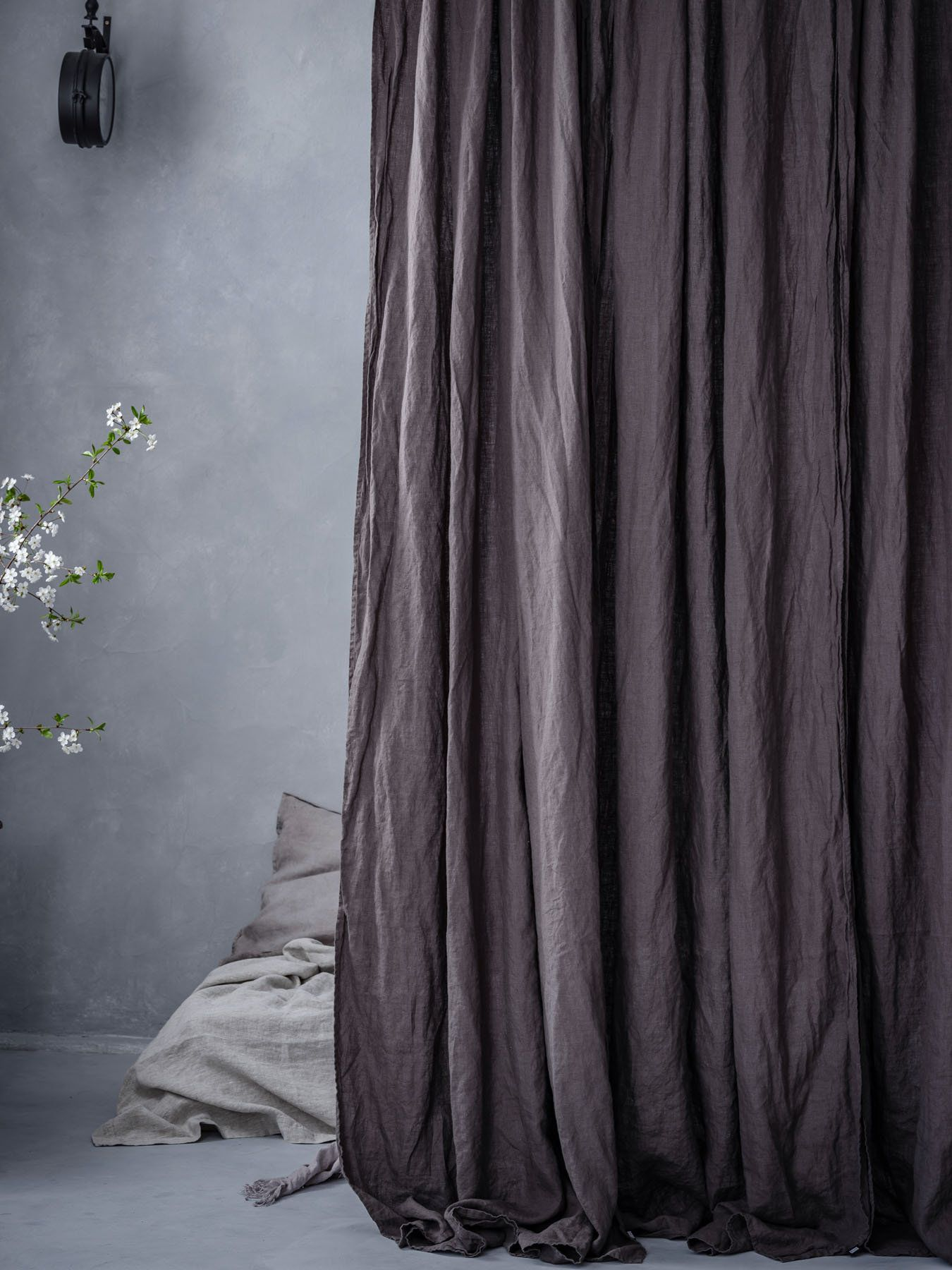 Dark Gray Linen Curtains Washed And Pre Shrunk Charcoal Medium Weight Linen Curtain Panel Smoke Gray Linen Curtain Drop Grey Linen Curtains Linen Curtains Dark Gray Linen