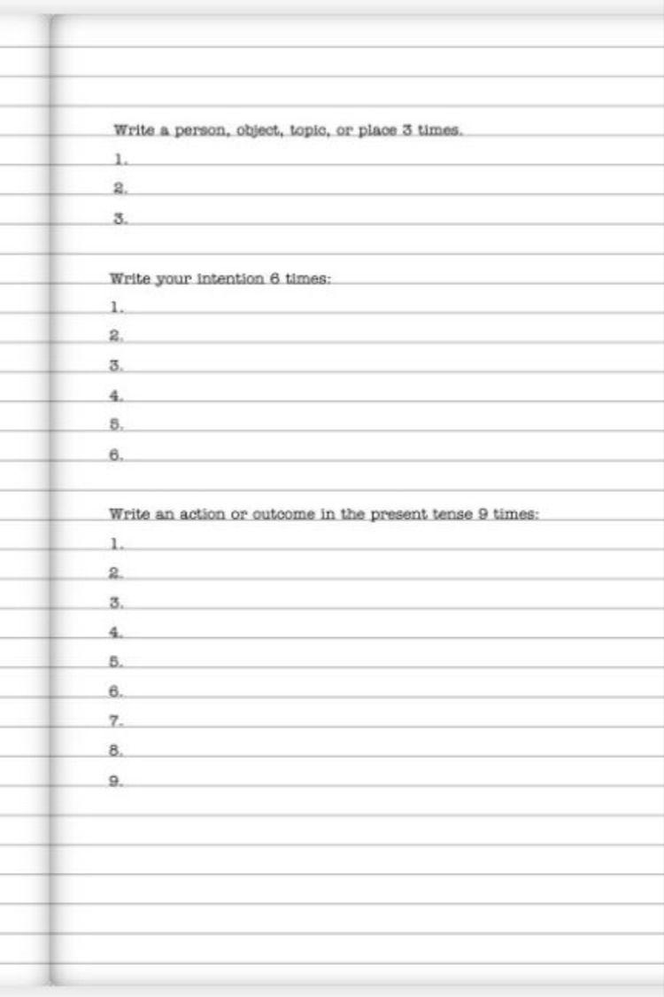 369 method manifesting journal