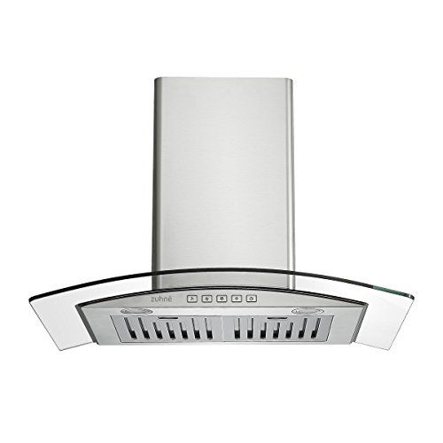 Zuhne Chorus 30 Inch Kitchen Wall Mount Vented Ductless Stainless Steel Range Hood Or Stove Vent With Energy Saving Touch Control Led Lights Stove Vent Stainless Steel Range Hood Kitchen Range
