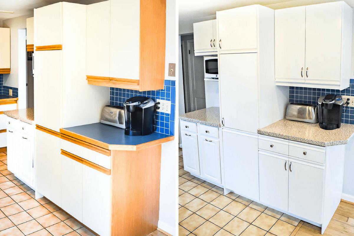 80s Kitchen Update Reveal Kitchen Decor Modern Painting Kitchen Cabinets Home Decor Kitchen
