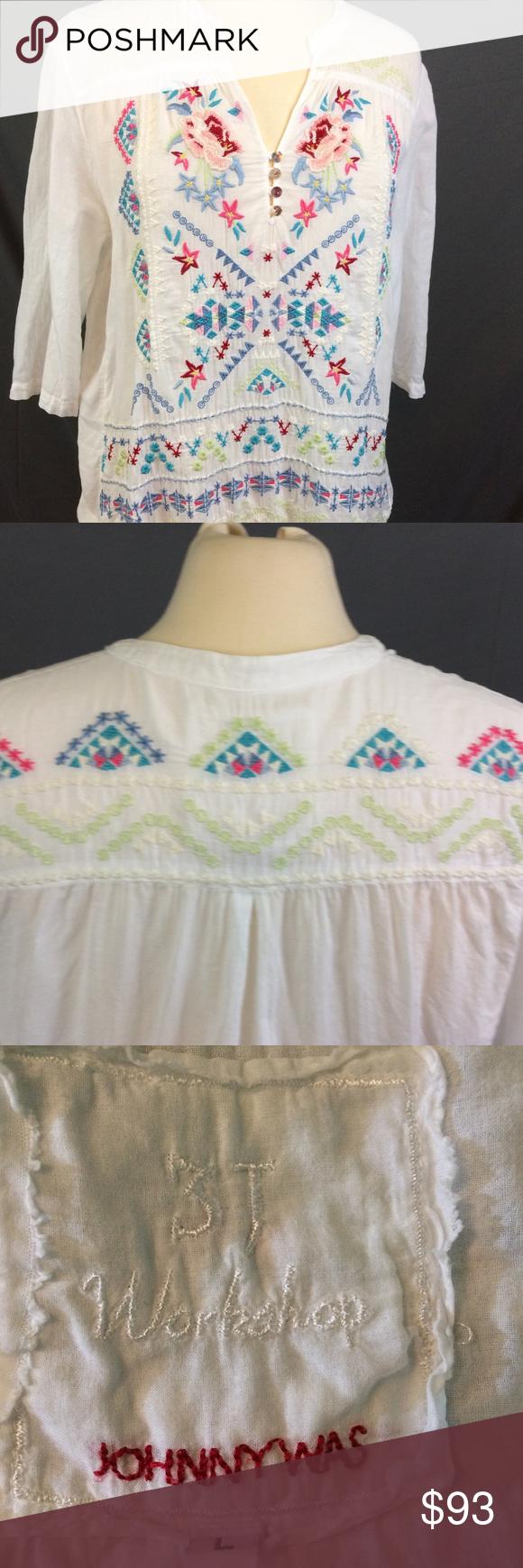 Johnny was yasmine victorian yoke blouse size l the j workshop