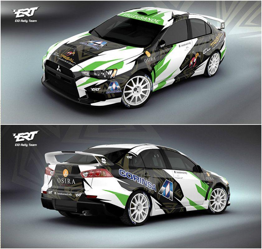 Design for bolivian rally driver esteban eid and his mitsubishi lancer evo x