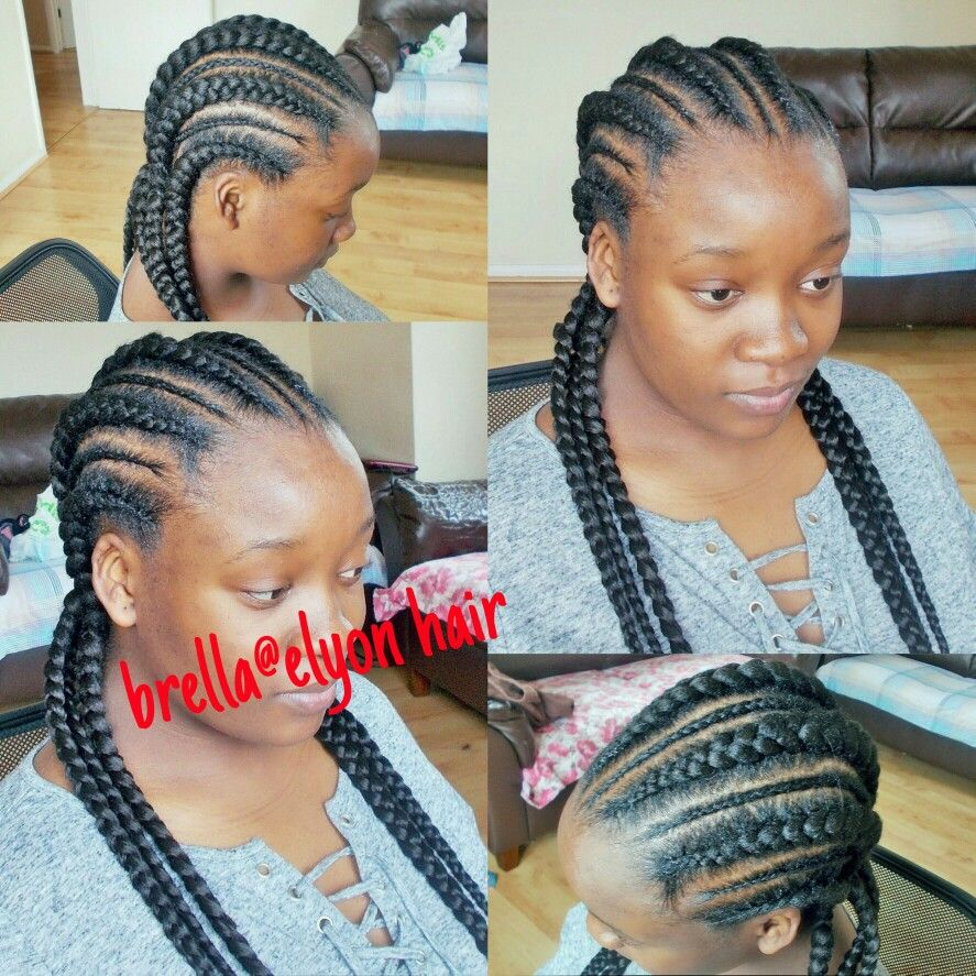 Feed In Cornrows On 4c Natural Hair Kids Hairstyles 4c Natural