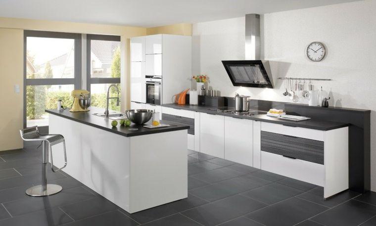 carrelage gris cuisine - Recherche Google Idées déco Pinterest - carrelage mur cuisine moderne