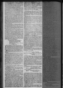 Nicholas Sellers deposition 24 July 1779 in The Pennsylvania Packet newspaper page 2.