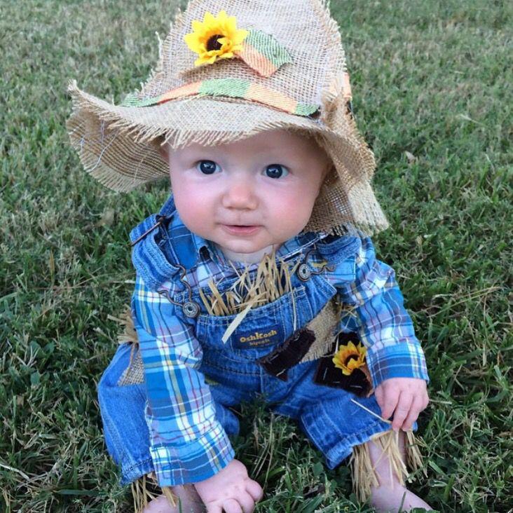 toddler baby boy halloween costume diy scarecrow costume overalls