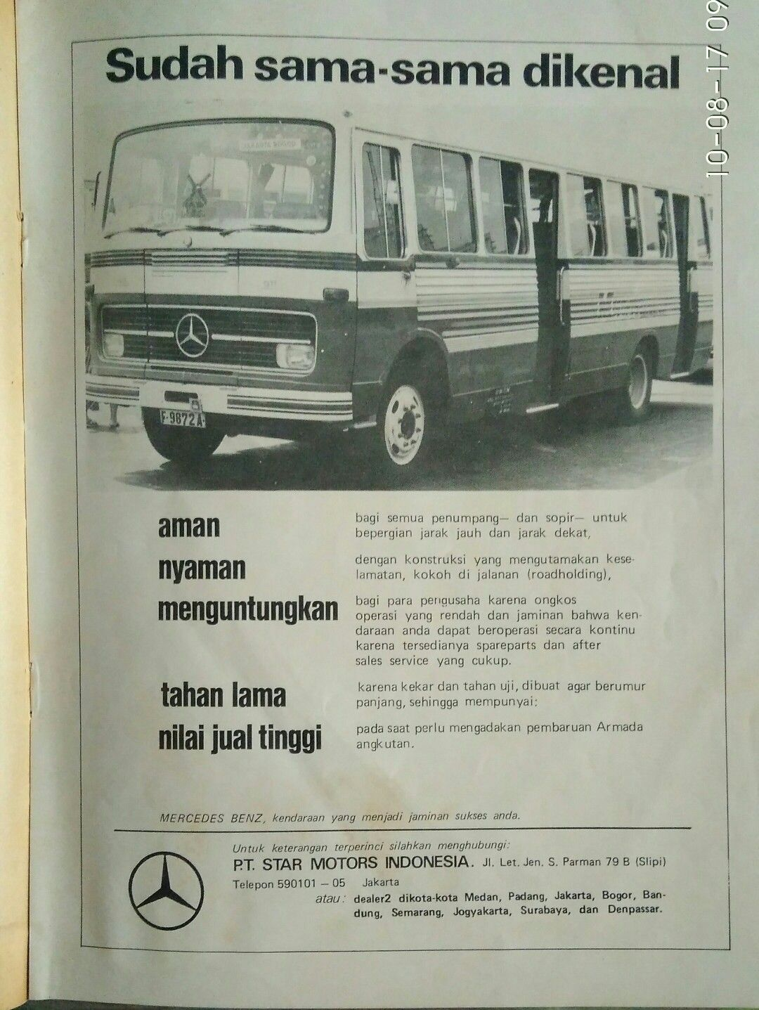 Iklan Bus Mercedes Benz Periklanan Pertahanan Mobil