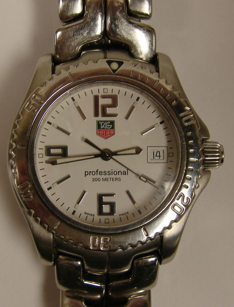 8450b415098 Tag Heuer Link Mid Size Professional 200M Swiss Watch WT1214 White Dial