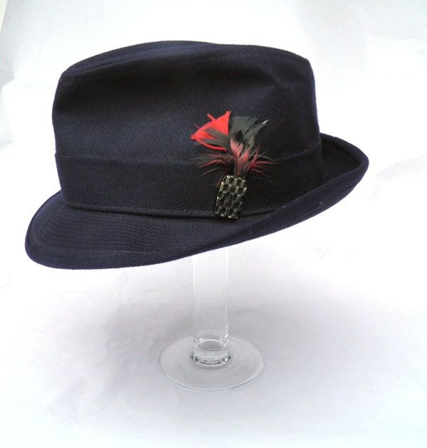 Failsworth Mens 70s Straw Trilby Summer Hat