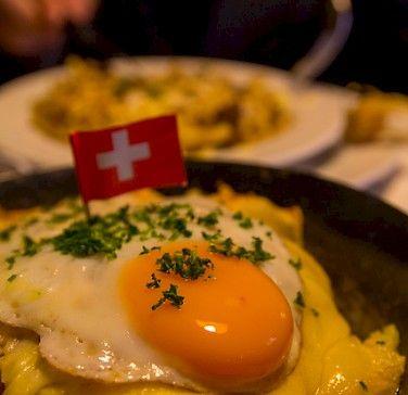 """Rosti"" - traditional Swiss food here in Stein am Rhein ..."