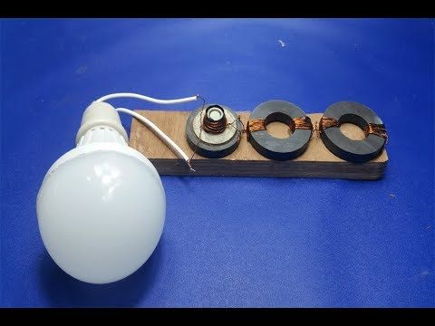 How to make simple electric motor generator - Science project DC