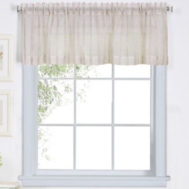 Linen Stripe Rod-Pocket Sheer Valance found at @JCPenney