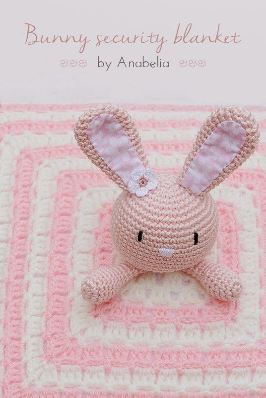 Free Pattern – Bunny Security Blanket (Crochet | Crochet - mantas ...
