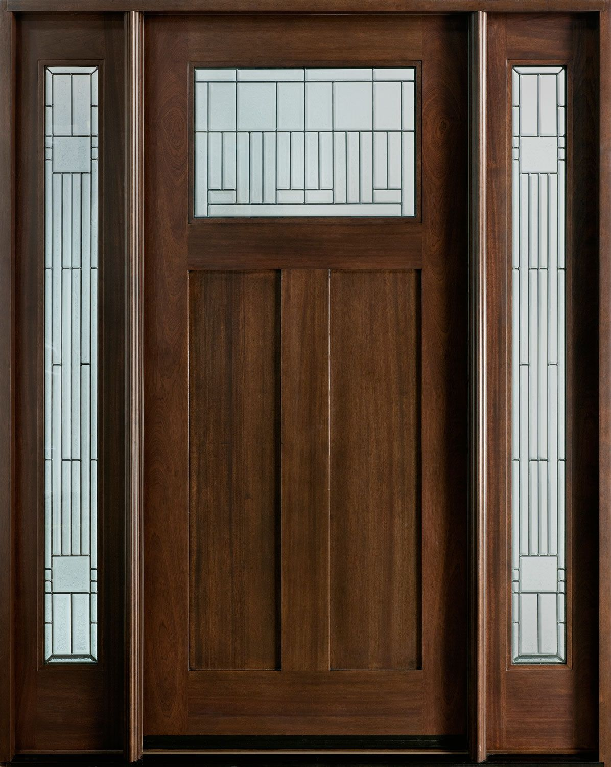 Craftsman custom front entry doors custom wood doors for Unique front entry doors