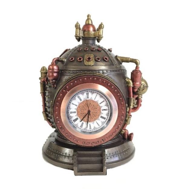 Steampunk Time Machine Clock Trinket Box Statue Steampunk Bedroom Decor Steampunk Decor Steampunk Home Decor