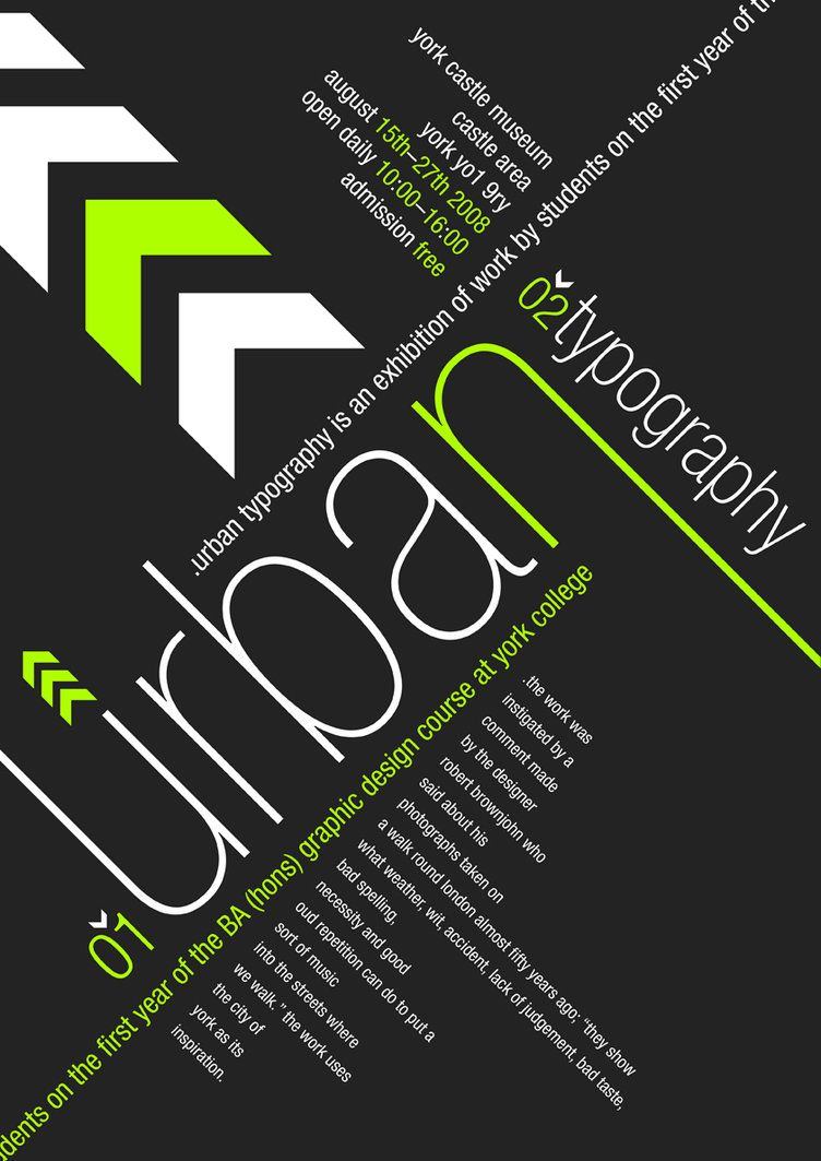 Urban Wallpaper Advertising Promotion I Found This On Deviantart Created By Andrewackroyd Typography Poster Design Typography Poster Typography Design