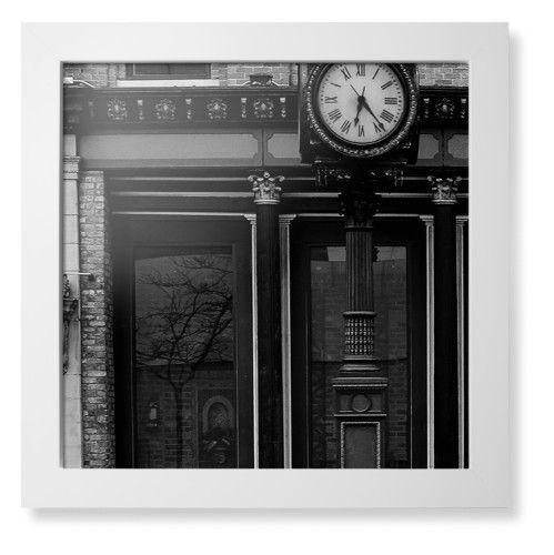 Clock Stand Framed Print, White, Contemporary, None, None, Single piece, 16 x 16 inches, White