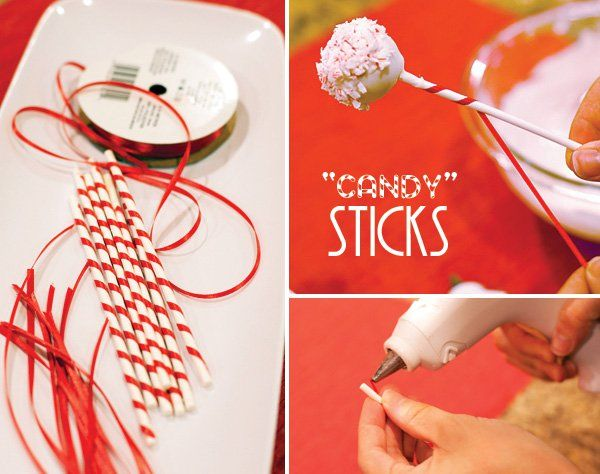 How To Decorate Cake Balls Fun Holiday Treat Candy Cane Cake Pops  Cake Pop Candy Canes