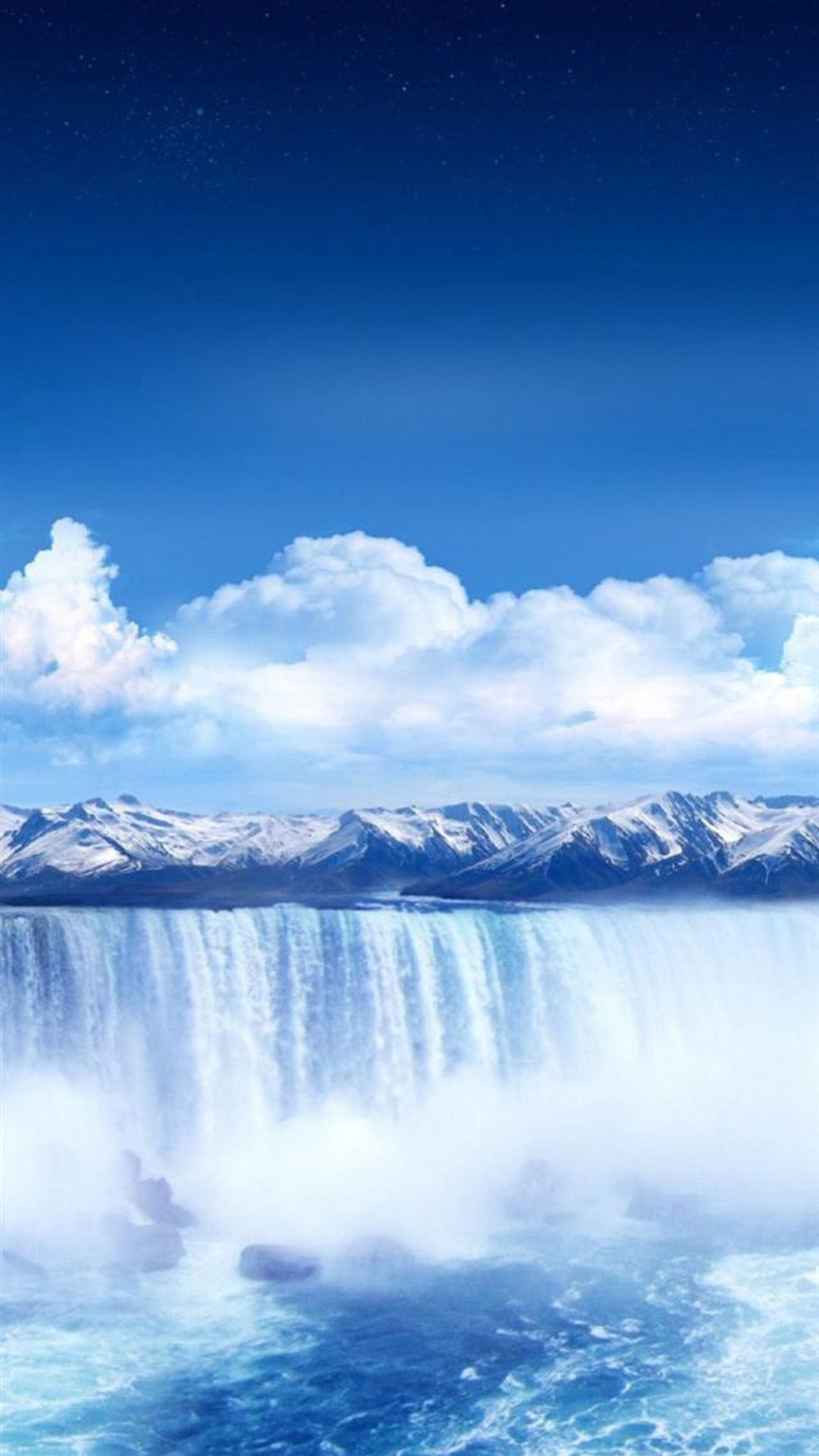 waterfall galaxy s5 wallpapers 15 blue wallpaper pinterest