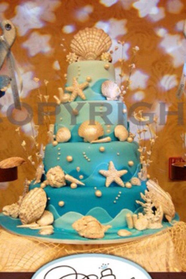 Under The Sea Cake Beach Wedding Cake Nautical Birthday Cakes