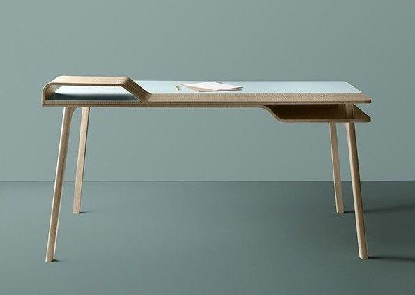 Bureau en bois design belharra treku le blog déco table