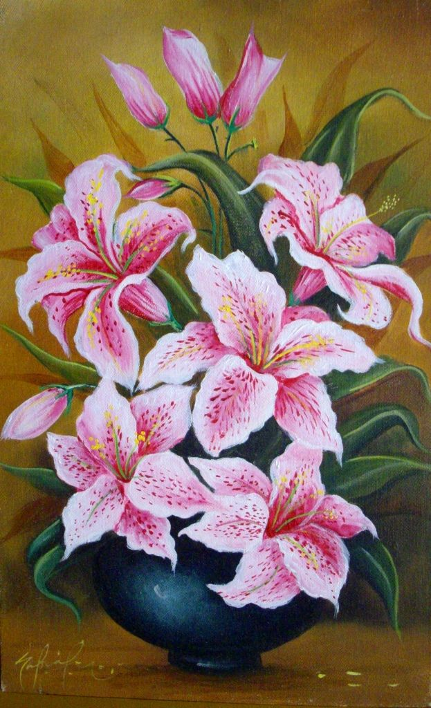 Lindas Flores Al óleo De Gabriel Nieto Favourite Flower